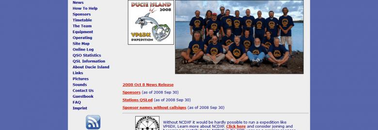VP6DX – Ducie Island 2008