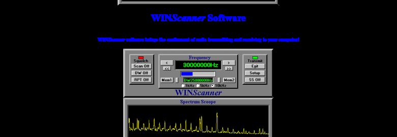 WINScanner Radio Software