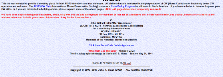 FISTS CW Club Code Buddy Program