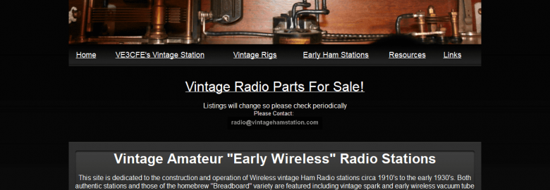 """Vintage Amateur """"Early Wireless"""" Radio Stations"""